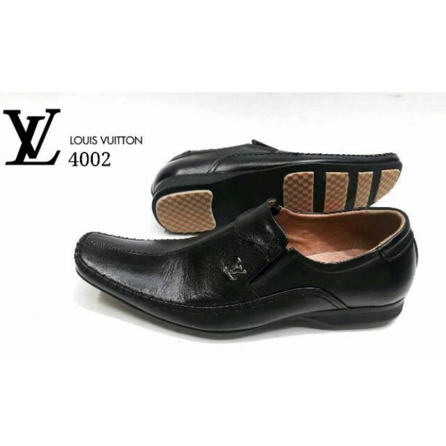 sepatu kulit pantofel pria bahan kulit sapi asli 100% formal kerja kantor murah   Shopee