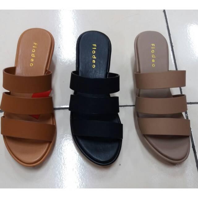 Sandal wanita merk fladeo warna2 soft  de285258c3