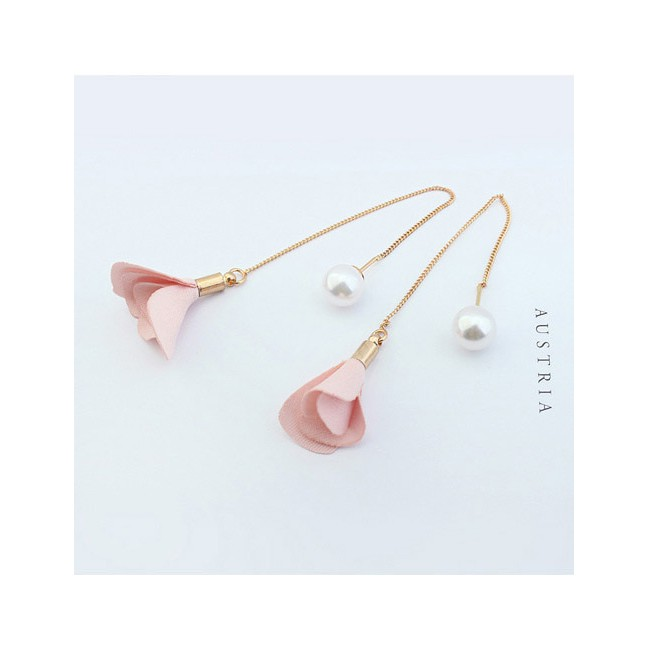 LRC Anting Tusuk Elegant Flower&pearl Decorated Color Matching Simple Earrings | Shopee Indonesia