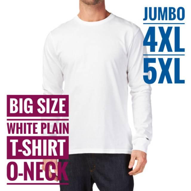 Kaos Polos Jumbo Size / Big Size Katun Combed 30s Size 4XL / XXXXL | Shopee Indonesia