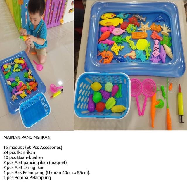 Mainan pancing ikan (isi 50pcs)  62a0a4a752