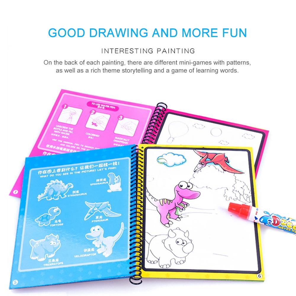 Mainan Papan Gambar Ajaib Dengan Pena Air Untuk Anak