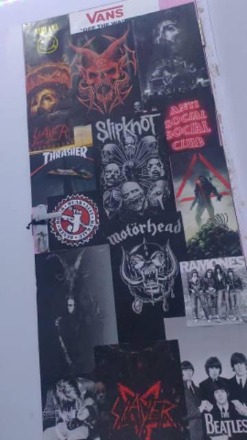 Poster Pamflet Hiasan Kamar Dinding Anak Metal Shopee Indonesia