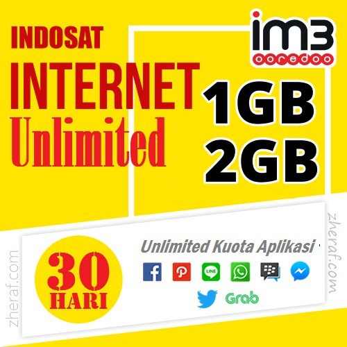 Voucher & Inject Indosat 1GB & 2GB Unlimited+ | Shopee