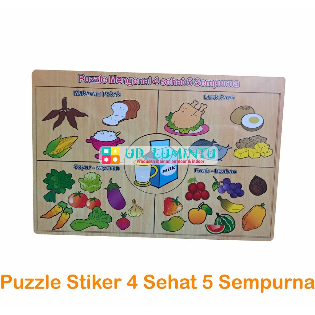 Puzzle Stiker 4 Sehat 5 Sempurna Shopee Indonesia