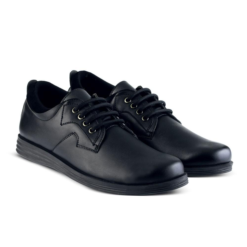 Sepatu Pantofel Kulit Kickers Pria Kerja Kuliah Formal Dinas Casual  Lapangan Boots Pdh Pdl  b7c0aea576