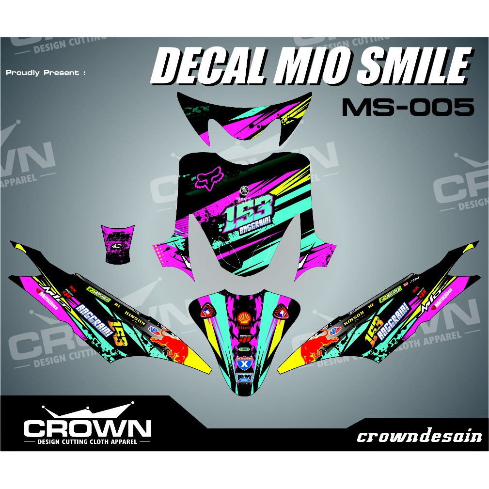 Sticker decal mio smile racer x shopee indonesia