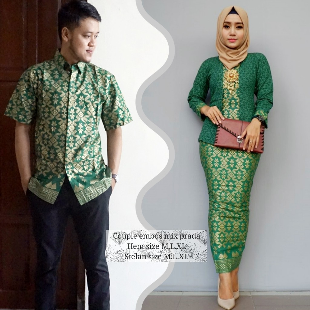70 Desain Baju Couple Warna Hijau | Desaprojek