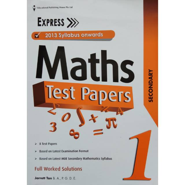 Maths Test Papers (New Syllabus) Secondary 1 Express