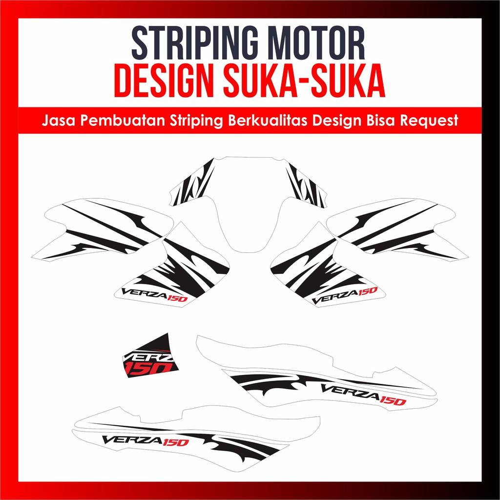 Striping Decal Variasi Verza Semi Full Body Design Bisa Request Sticker Cutting Custom Desain Suka Shopee Indonesia