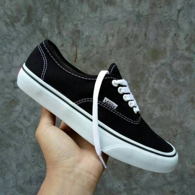Sepatu Vans California Hitam Black White Cewek Cowok Sepatu