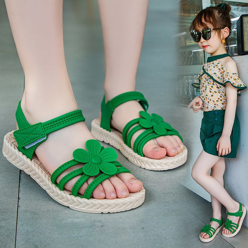 Sendal Bayi Girls Sandals 2020 Children Summer New Fashion Girl Soft Bottom Flowers Cuhk Children S Princess Baby Shoes Shopee Indonesia