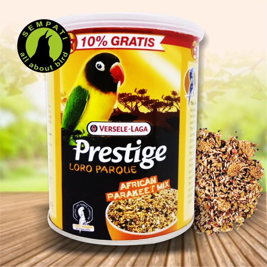 Prestige Loro Parque Versele Laga Pakan Burung Lovebird Shopee