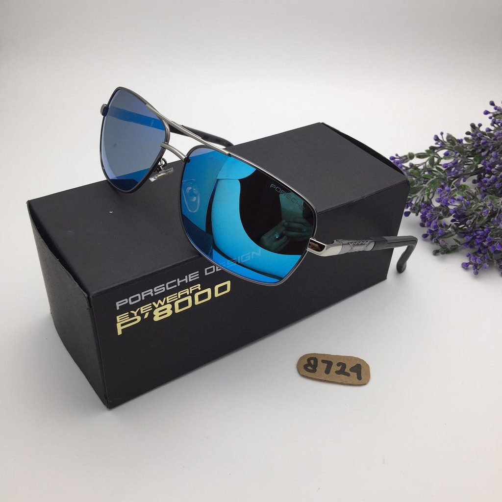 Kacamata Porsche Design PD 8724 Black Blue Kacamata Pria Murah Fashion  69f55e9af3