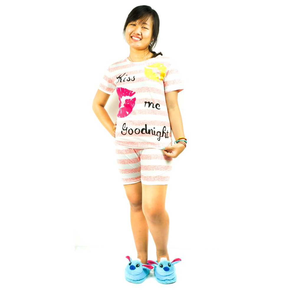 Dapatkan Harga Celana Pendek Kulot Pakaian Wanita Baju Tidur Diskon Stelan 3 4 Berlengan Batik Print Spt002 01 Shopee Indonesia