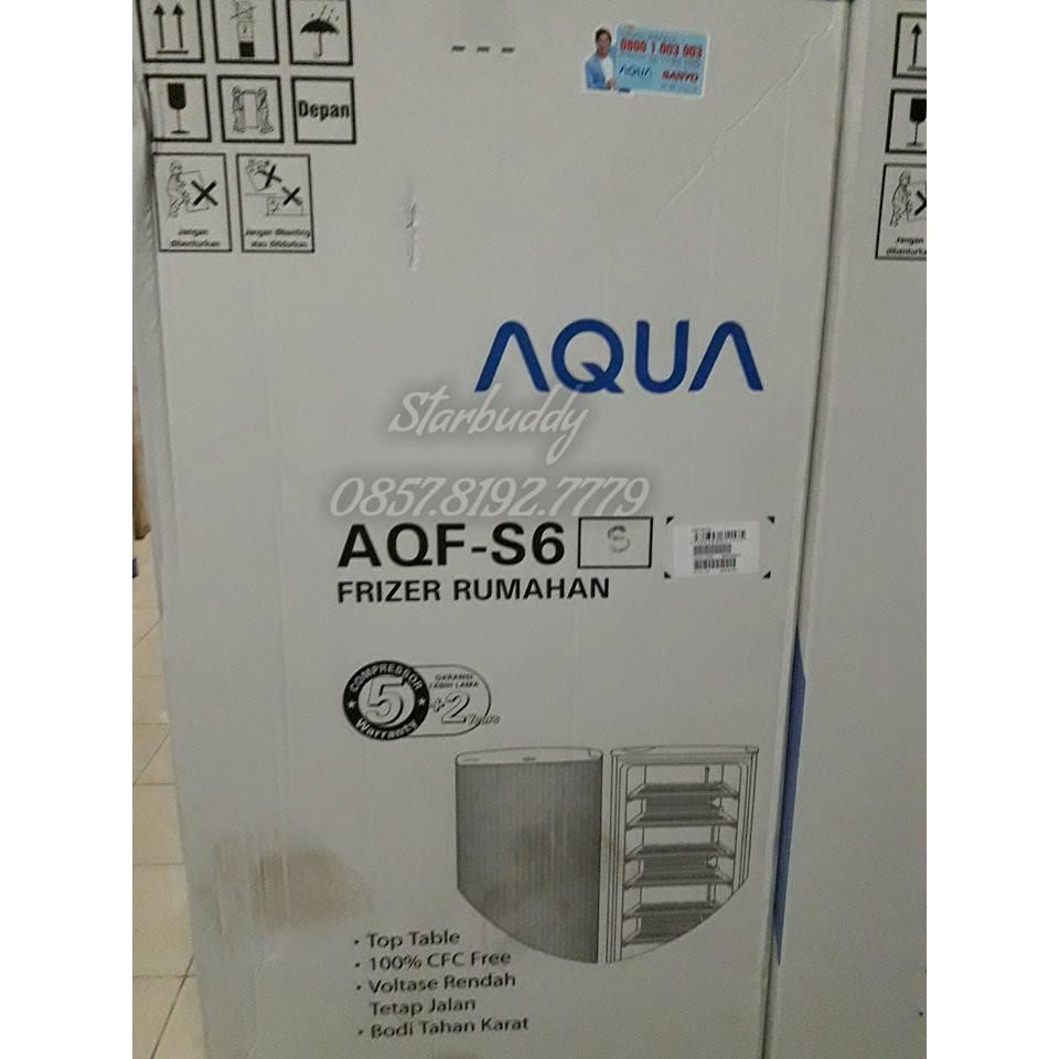 Freezer Es 6 Rak Aqua Aqf S6 Terlaris Shopee Indonesia Lg Gn304sl Gratis Biaya Pengiriman
