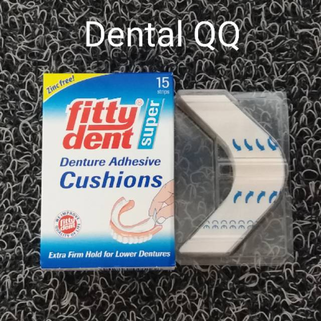 Fittydent cushion lem gigi palsu USA super denture adhesive
