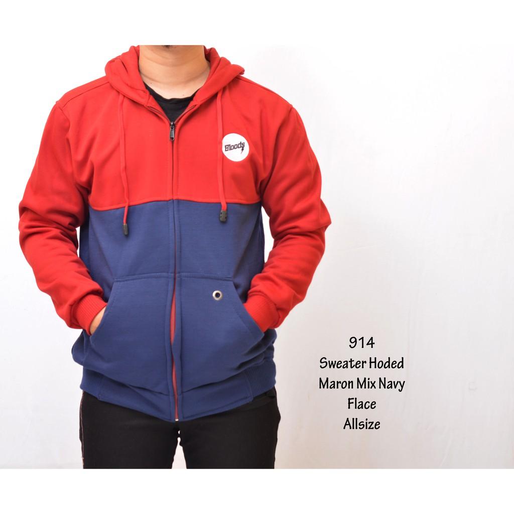 Dapatkan Harga Pakaian Pria Sweater Diskon Shopee Indonesia Jaket Fleece Db Red