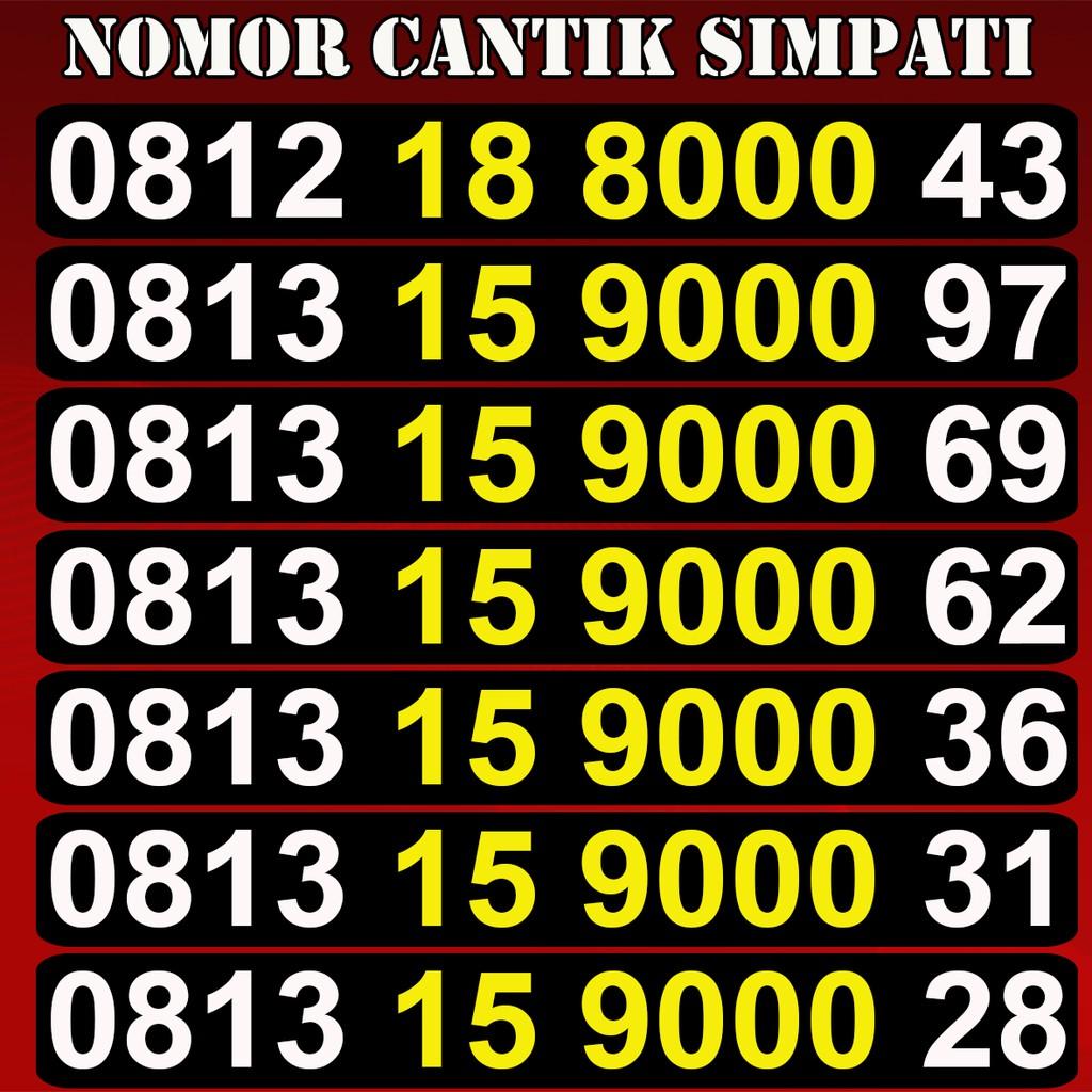Nomor Cantik Simpati 4G Perdana Telkomsel Rapih Murah Meriah   Shopee Indonesia