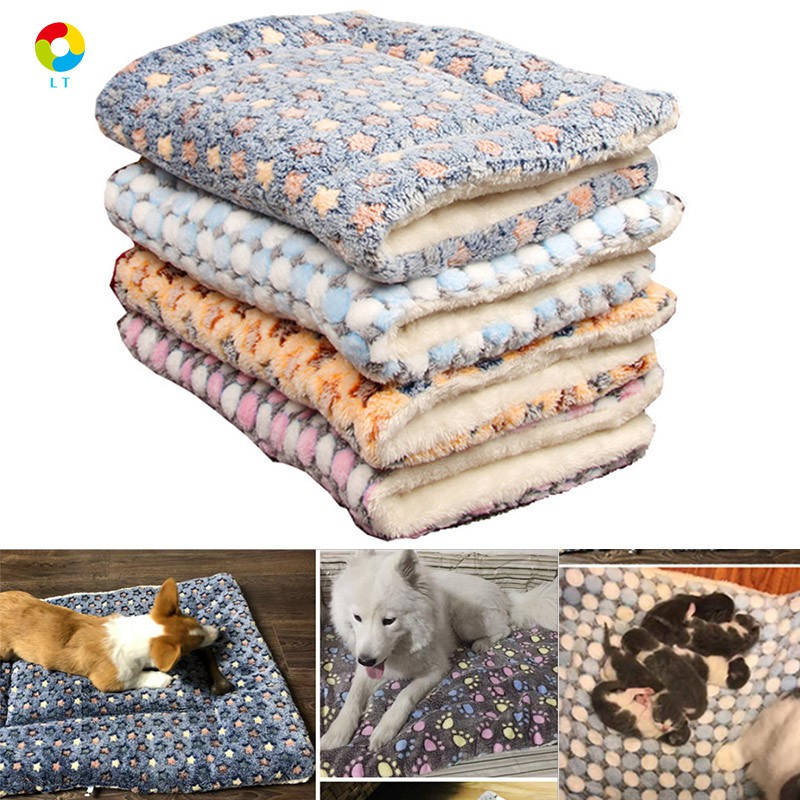 Dog Puppy Cat Kitten Pet Bed Cushion Basket Mat Washable Warm Mat Sleep Blanket