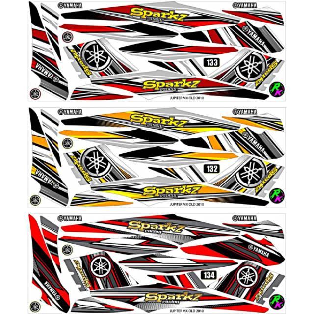 Sticker Striping Variasi Thailand Thailook Jupiter Mx 135 Lama Jupiter Mx 135 Old Ojmx Spark 8