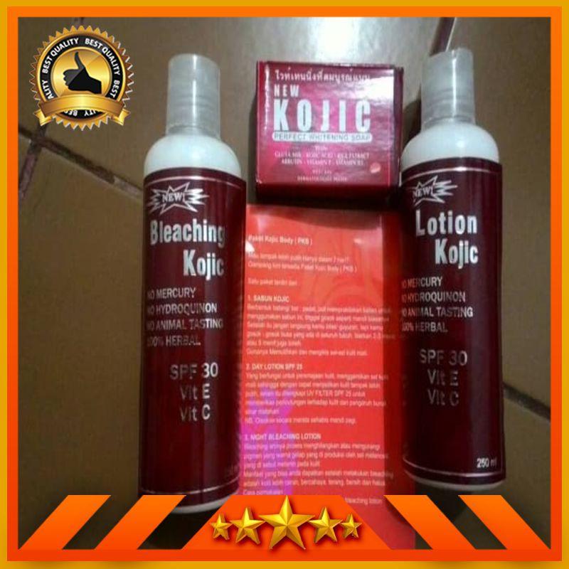 HARGA PROMO Paket Pemutih Kojic Korea  Sabun + Bleaching Cream + Lotion ORI