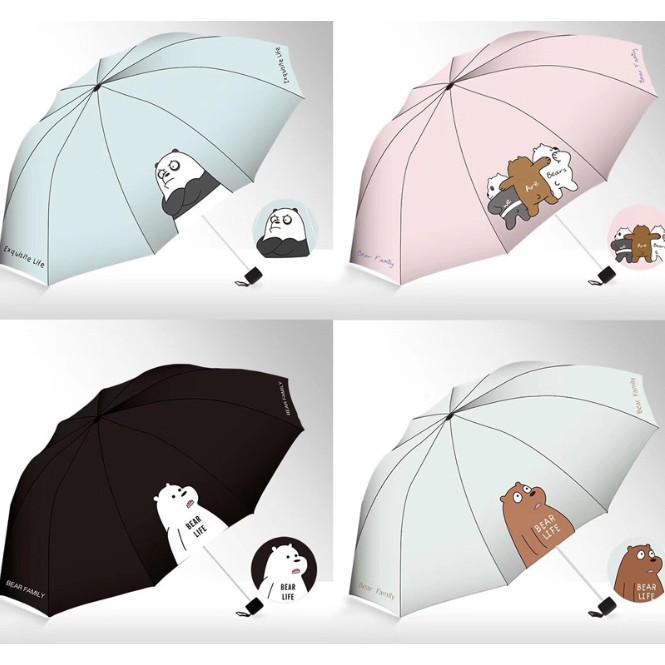 Payung Lipat Premium We Bare Bears Edition Payung Karakter Kartun Lucu Imut Impor Ready Stock Shopee Indonesia