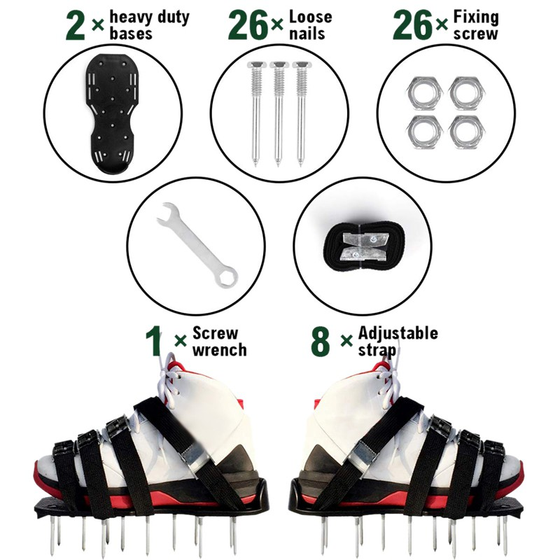 Lawn Aerator Sandals Shoes Air Fertilize Water Yard Equipment Garden Tool New