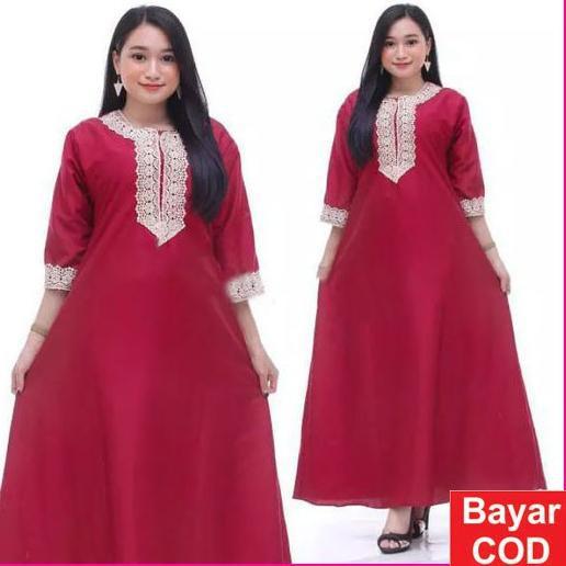 twe-30 Dress Arab  Panjang lengan pendek Daster Muslimah Busui !!!