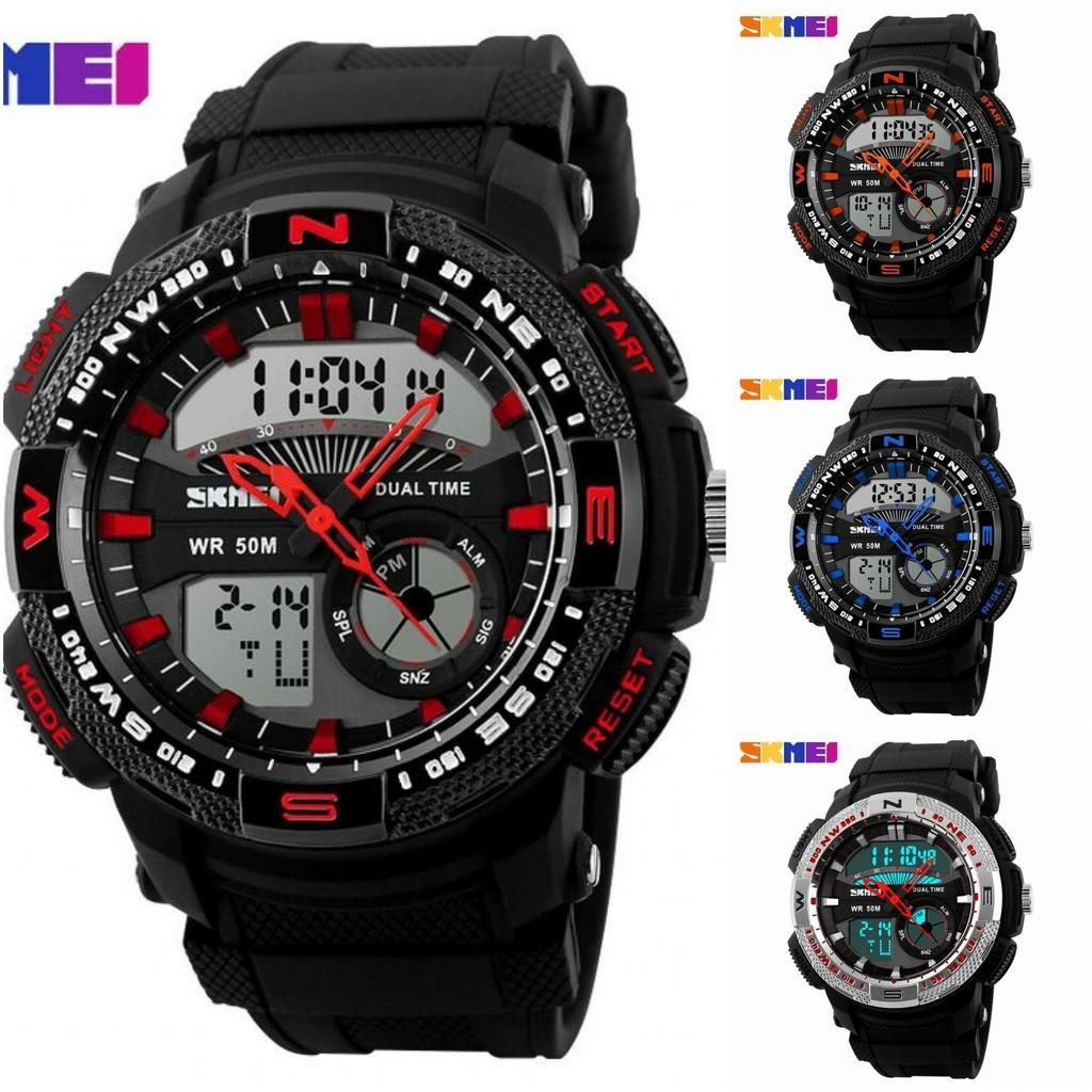 Skmei Men Sport Led Watch Water Resistant 50m Ad1163 Emws49bv Jam Tangan Pria Casio Ad1109 Shopee Indonesia