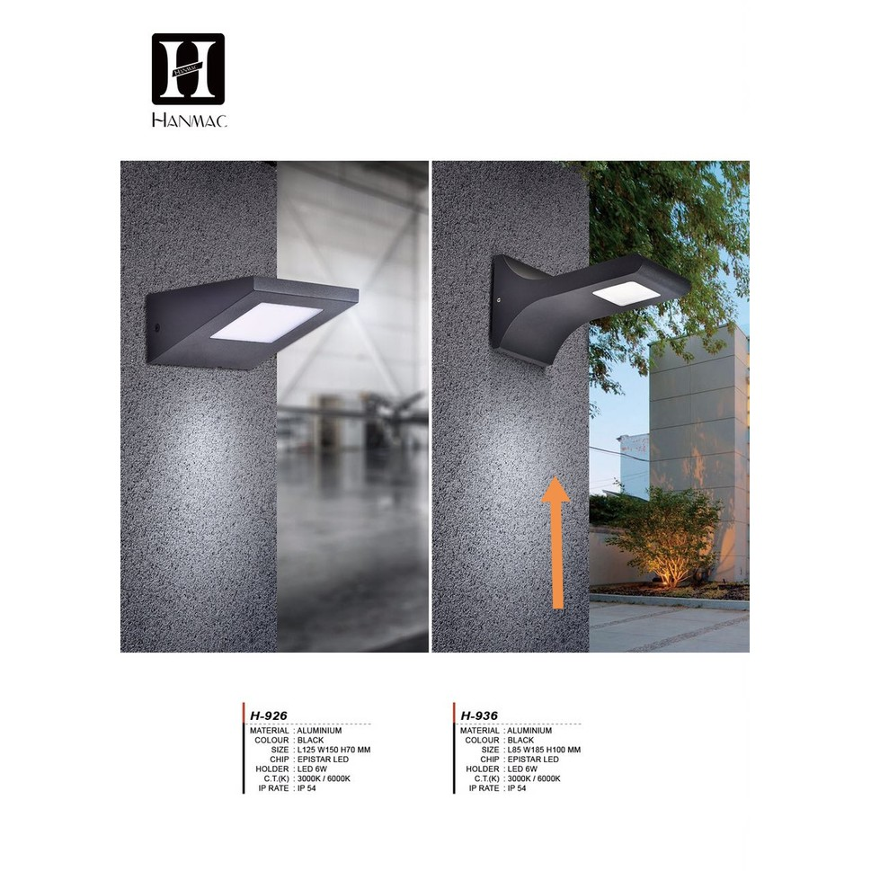 H936 Lampu Taman Dinding Led 6w Waterproof Outdoor Wall Light Shopee Indonesia