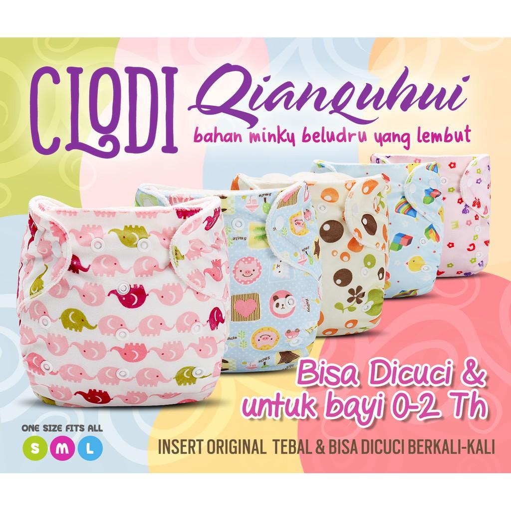 Little Hippo TeenyFit Newborn Size Motif Tutti Frutti Clodi Popok Bayi + 2 Insert Microfiber | Shopee Indonesia