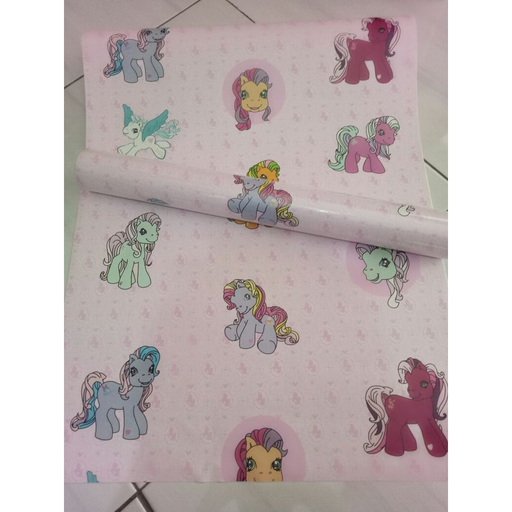 Murah Wallpaper Sticker 45cm X 10meter Little Pony Walpaper Dinding Motif Kartun Kuda Poni Shopee Indonesia