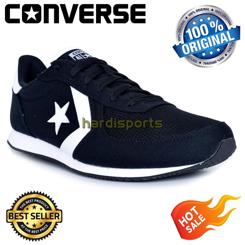 sepatu Sneaker Converse Arizona Racer OX 158382C Black White original  29af4647b4