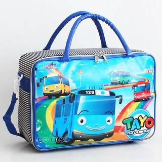 81dc233084 Travel Bag Koper Tas Kanvas Karakter TAYO Biru Besar Selempang