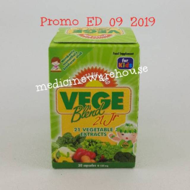 vegeblend 21 isi 60 Jr for Kids - Vitamin Untuk Anak Anak - 60 Vege Blend -exp oct 2019   Shopee Indonesia