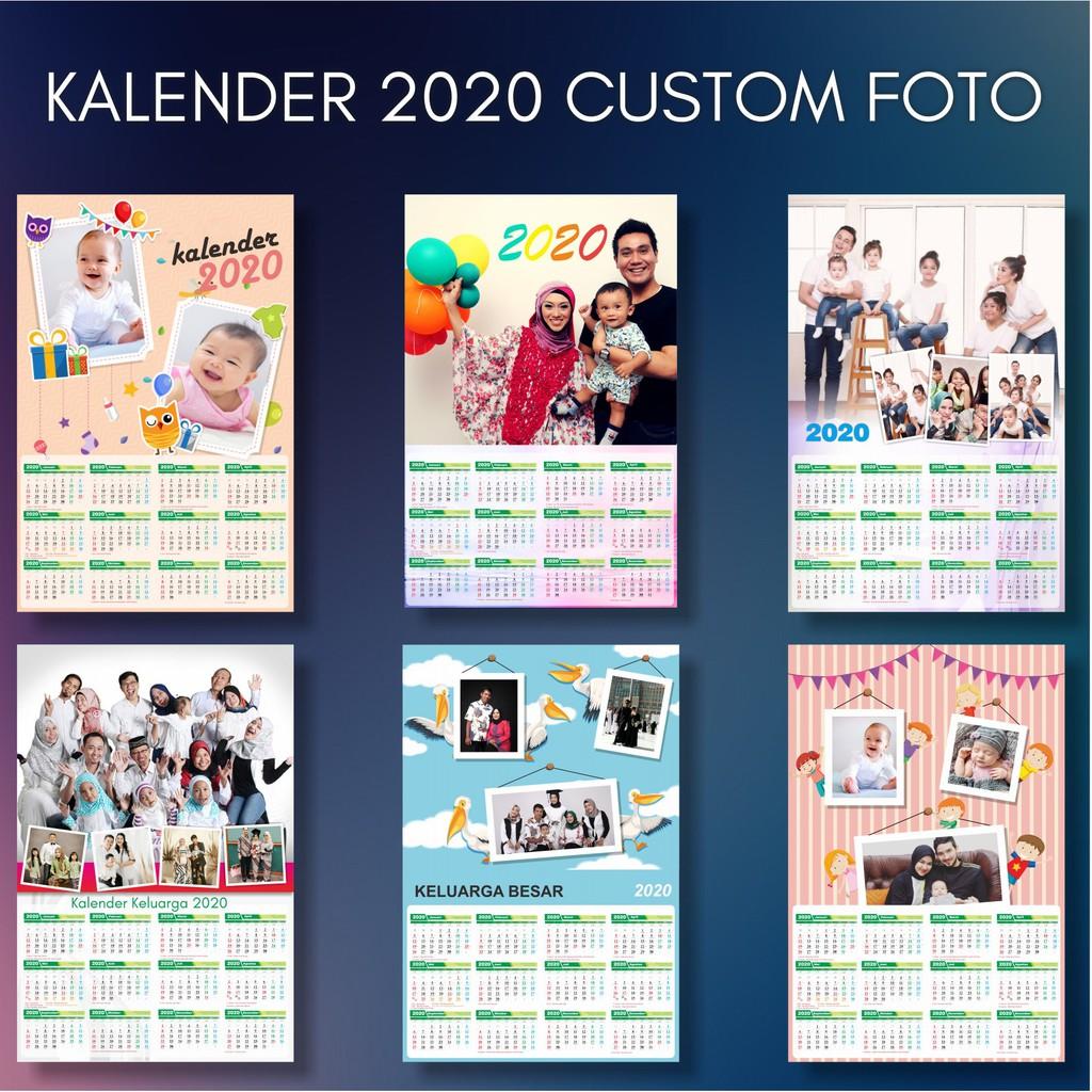 Kalender Dinding 2020 Murah Custom Foto + klep gantungan ...