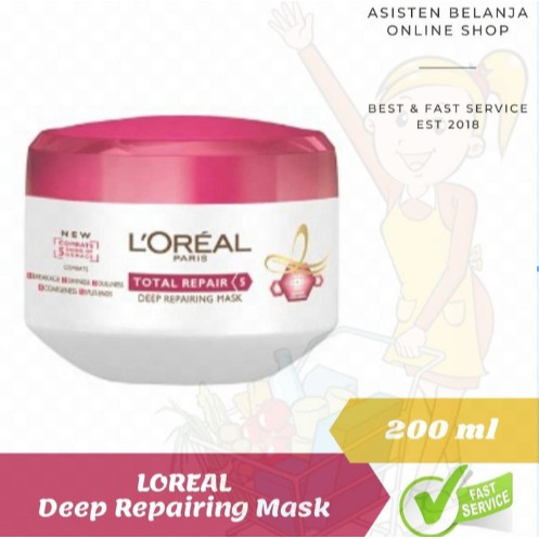 Loreal Paris Deep Repairing Total Repair Hair Mask 200ml Masker Rambut Shopee Indonesia