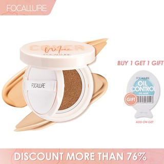 Focallure Bb Cushion Foundation Matte Natural Menutrisi Melembabkan Kulit thumbnail