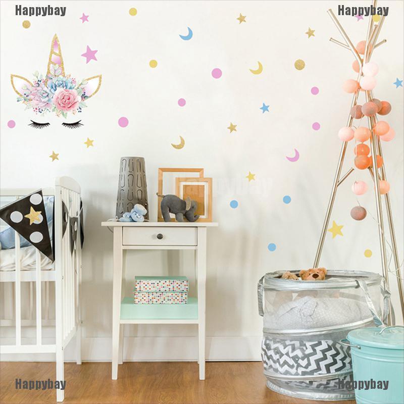 Happybay Stiker Dinding Desain Bulu Mata Unicorn Untuk Dekorasi Kamar Anak Perempuan Shopee Indonesia