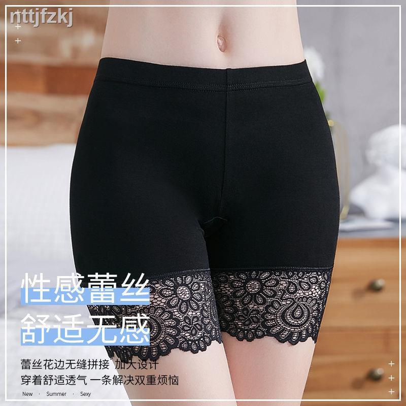 Celana Legging Pendek Wanita Dengan Model Potongan Slim Dan Bahan Elastis Hiasan Renda Ukuran Besar Shopee Indonesia