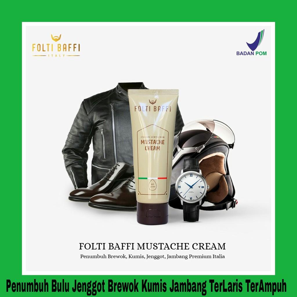 Folti Baffi Cream Penumbuh Bulu Jenggot Jambang Brewok Kumis Sangat Ampuh AMAN tanpa efek samping | Shopee Indonesia