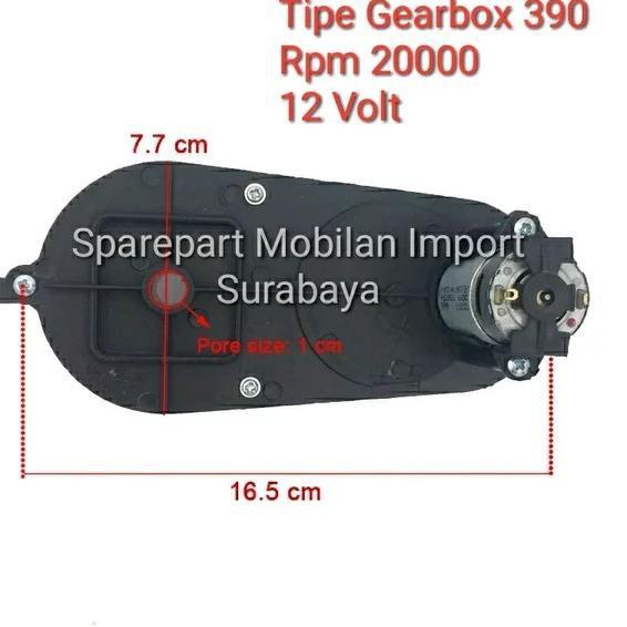 ̄ GROSIR RS 390 GEARBOX GER BOX GEAR BOX GERBOK DINAMO MOBIL MAINAN MOTOR AKI ANAK 12 VOLT  RPM 12V