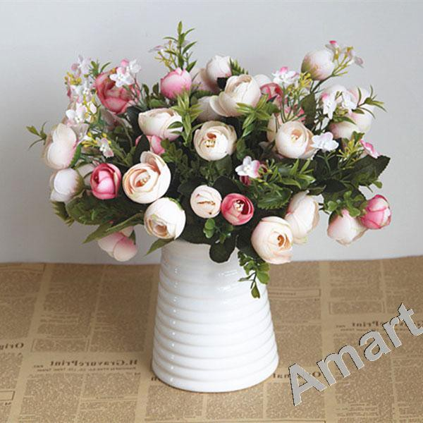 Buket Bunga Mawar Putih Spons Artifisial Dekorasi Rumah Pesta Pernikahan 10 buah | Shopee Indonesia