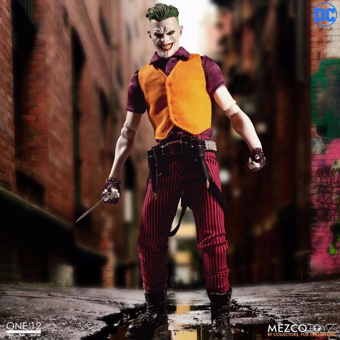 One:12 DC COMICS le JOKER Figure Clown Prince of Crime Edition Mezco Toyz