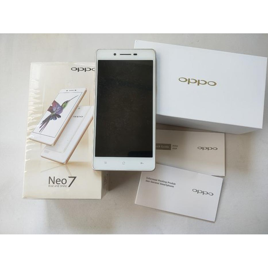 HP ANDROID OPPO NEO 7 PUTIH MULUS NORMAL MINUS CHARGER