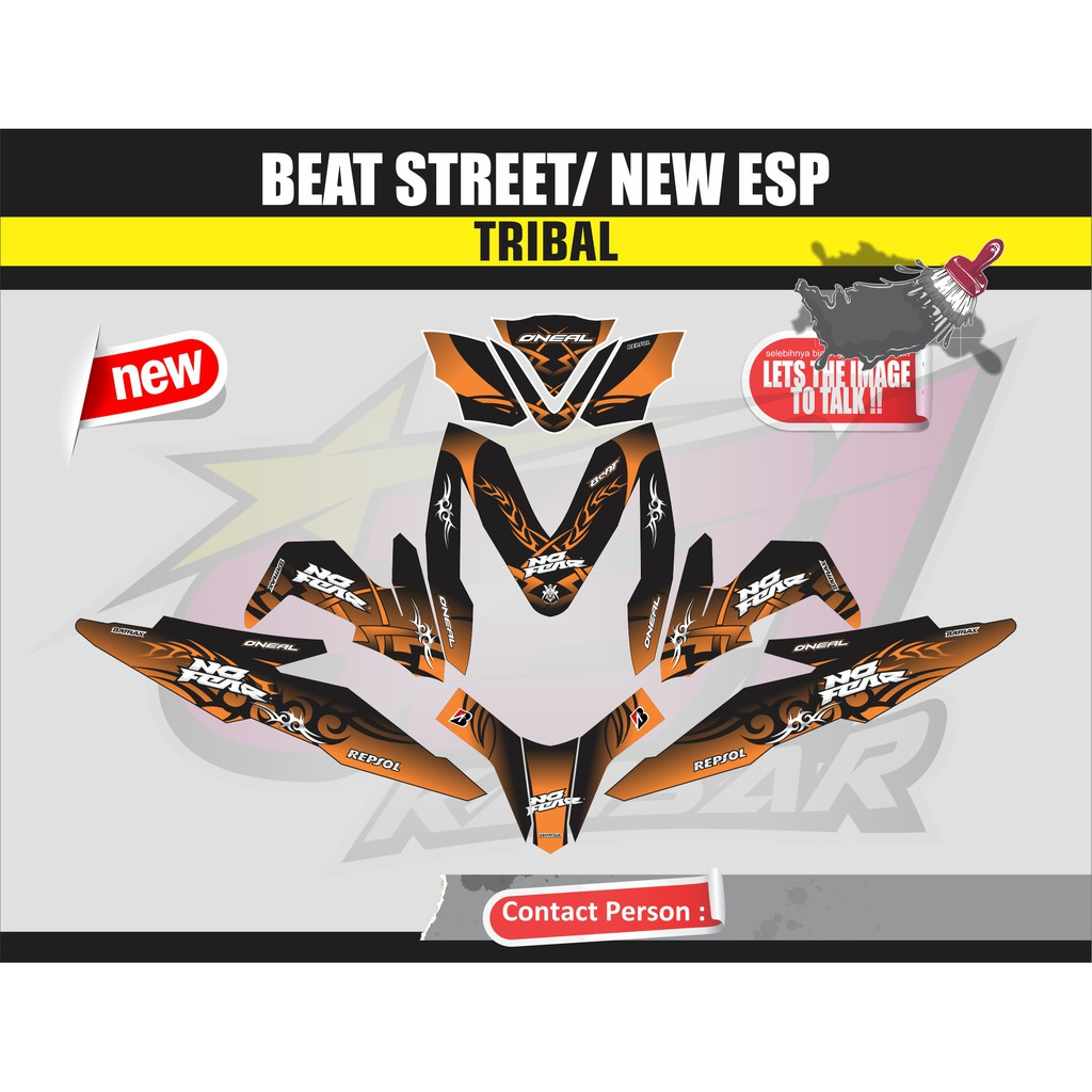 Sticker striping beat street zombie shopee indonesia