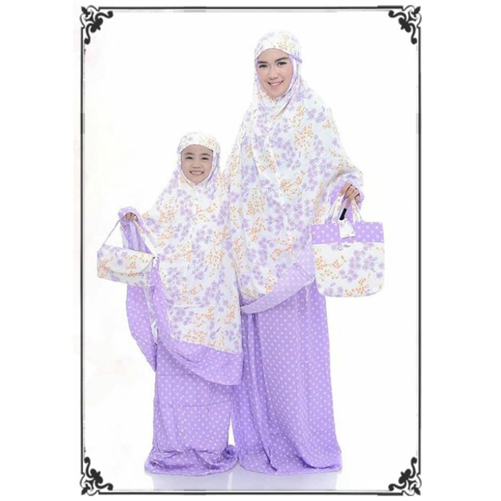 Mukena Katun Rayon Plain Khaki Shopee Indonesia Tazkia Folksy Artwork Blue
