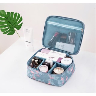 Travelmate Korean Travel Cosmetic Bag Organizer / Tas Kosmetik Sekat Aneka Motif
