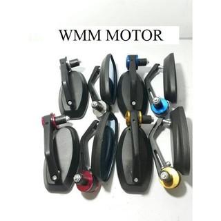 Spion Jalu Spion Samping Stang Universal Model Oval Kaca Biru *Berkualitas*